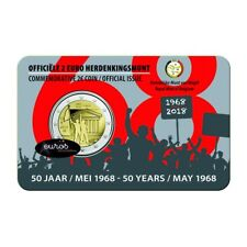 Coincard 2 euros BELGIQUE 2018 : FLAMAND - Cinquantenaire de mai 1968