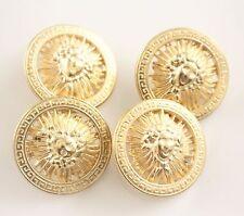4 matt gold tone texture a sole DUSA Designer Style bottoni metallici grandi 31mm