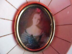Sublime, Vieux Image __Miniatur-Gemälde__ Portrait: Luisa Di Francia Nattier__