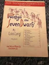 Sheet Music: Procession of the Seven Dwarfs, Lois Long 1936 Willis Music Piano