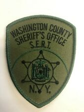 Washington County New York Sheriffs Department SWAT/SERT Subdued Police Patch