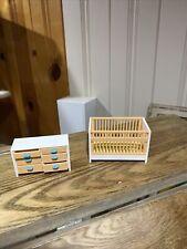 New ListingVintage Tomy Dollhouse Furniture Nursery Room Crib - Changing Table Htf Japan