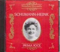 Ernestine Schumann-Heink (Première Voix) - CD