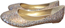 Benjamin Adams Memphis Sparkling Crystal Coated Ballet Flats Ballerina Shoe 8.5