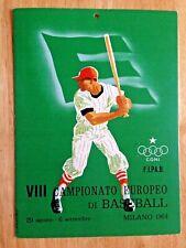 GREAT GRAPHICS: 1964 INTERNATIONAL BASEBALL EUROPEAN CHAMPIONSHIPS SCHEDULE SIGN