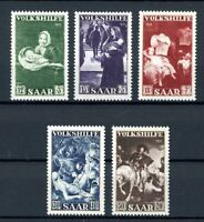 Saarland MiNr. 309-13 postfrisch MNH Volkshilfe (F131