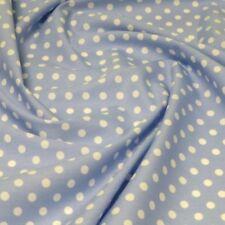 100% Cotton Poplin Fabric Rose & Hubble 7mm Polka Dots Spots Spotty