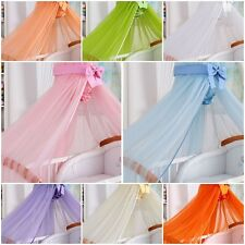 BABY COT BED CANOPY HUGE 480x170 MOSQUITO DRAPE NET WITH DECORATIVE BOW HOLDER