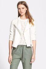 NWT $425 VINCE Stretch Frise Asymmetrical scuba Jacket size LARGE L CREMA cream