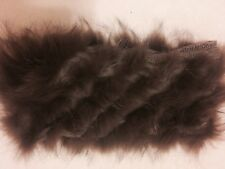 New Dana Stein Infinity Circle Scarf Shawl Wool Raccoon Real Fur Brown
