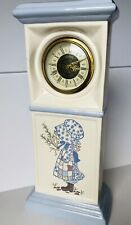 Vintage Ceramic Tall Holly Hobbie Clock (not Working) Inscribed Hand Made