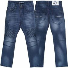Markenlose Mädchen-Jeans mit geradem Bein