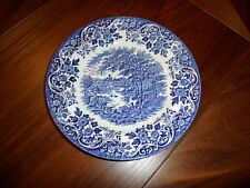 Broadhurst Staffordshire Blue And White Small Plate ENGLISH SCENE 8 Inches Wide