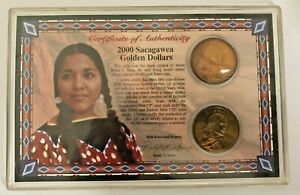 Sacagawea Dollar Set 2000 Uncirculated Philadelphia & Denver Coins NEW Teton