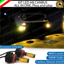 KIT LED H11 FENDINEBBIA JEEP RENEGADE 3000K GIALLO 9800 LUMEN