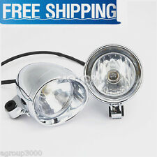"Chrome 4"" Fog Light Motorcycle Spot Light Head Lamp For Harley Davidson Honda"