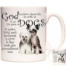 Chinese Crested mug, Matching Coaster Available. Can Be Personalised
