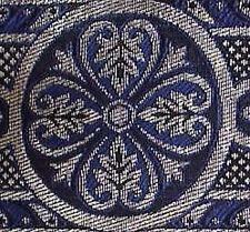 Jacquard Chasuble, Vestment Trim. Blue & Silver
