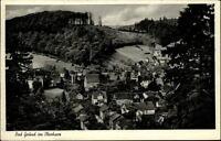 Bad Grund Harz Postkarte 1965 gelaufen Totale Panoramablick mit Wald