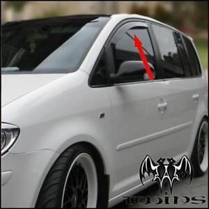 Déflecteurs de vent pluie air teintées VW Touran 2003-2015 Volkswagen