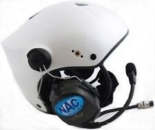 NAC Horus Deluxe Com PPG Helmet for Powered Paragliding and Paramotor, Pearl