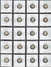 20 COINS HALF ROLL 1987-S CHOICE PROOF JEFFERSON NICKELS