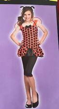 LADY BUG Girl's Halloween Costume Dress, Wings ,Headband LEGGINGS XL 10-12 TEEN