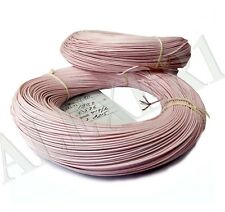 "20m / 66 ft 26AWG 0.12mm PTFE Wire Copper 999 USSR MGTF fits brand name ""Teflon"""