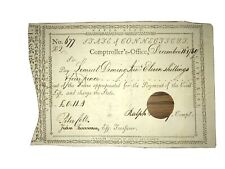 Peter Colt And Ralph Pomeroy Signed Document 1789