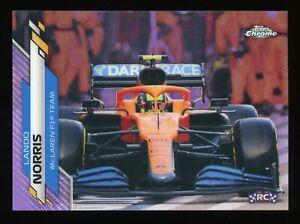 2020 Topps Chrome Formula 1 F1 #27 Lando Norris RC Purple Refractor 386/399