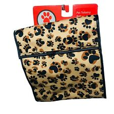 Paw Leopard Print toiletry bag hanging