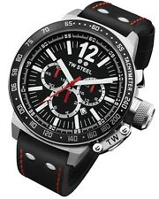 TW Steel Watch * CE1016R CEO Canteen Black Leather 50MM Chronograph COD #crzyj