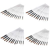 Set di pennelli per artisti 12Pc per pittura ad acquerello ad olio acrilico