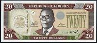 2011 LIBERIA $20 DOLLARS BANKNOTE * UNC * P-28f *