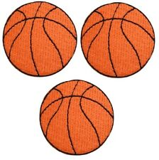 3-Pack, Small, Iron on Mini Basketball Applique Patch