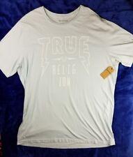 NWT True Religion Mens 2XLT XXL Tall Sky Blue Short Sleeve T-Shirt Tee (DDD2)