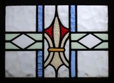 ORIGINAL EDWARDIAN ANTIQUE STAINED GLASS WINDOW