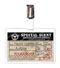 Agent Peggy Carter SSR Marvel ID Badge Card Cosplay Prop Costume Christmas
