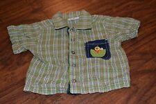 G9- B.T. Kids Short Sleeve Snap Down Shirt Size 3/6 Months
