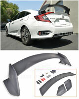For 16-Up Honda Civic Sedan Type-R Style PRIMER BLACK Rear Trunk Wing Spoiler