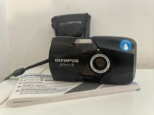 Olympus µ[mju:]-II 35mm Compact Film Camera With Manual & Case