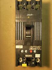 GE TFJ TFJ224125 2 pole 125 amp trip 480V CIRCUIT BREAKER BLACK FACE