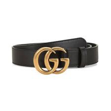 Luxury Double G Leather Belt Waistband Women Personality Black Jeans Belt UK
