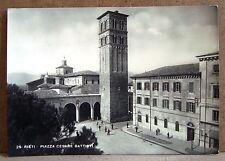 Rieti - Piazza Cesare Battisti [grande, b/n, viaggiata]