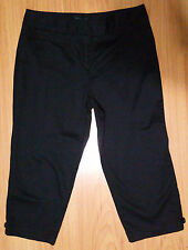 New Women's Pants Capris Sz 10 Style and Co Mid Rise 20 in Inseam Tailored Black