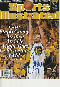 STEPH CURRY Signed SPORTS ILLUSTRATED 5/13/13 w/ Beckett COA NO Label 1st Cover