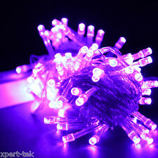 100 LED 10M Purple String Fairy Lights Christmas Wedding Garden Party Xmas Decor