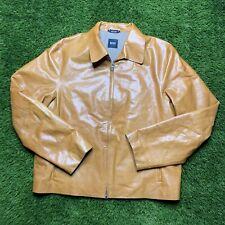 Mens Hugo Boss Genuine Buffalo Caddle Genuine Leather Collared Jacket Size 44R