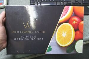Wolfgang Puck 10 Piece Garnish Kitchen Prep Set Stainless w/Rollup Carry Case