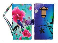 Lovely Birds Design Wallet Leather Case for LG V10